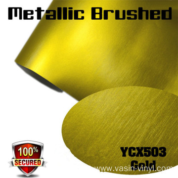 Metallic Brushed Matte Chrome Vinyl Film